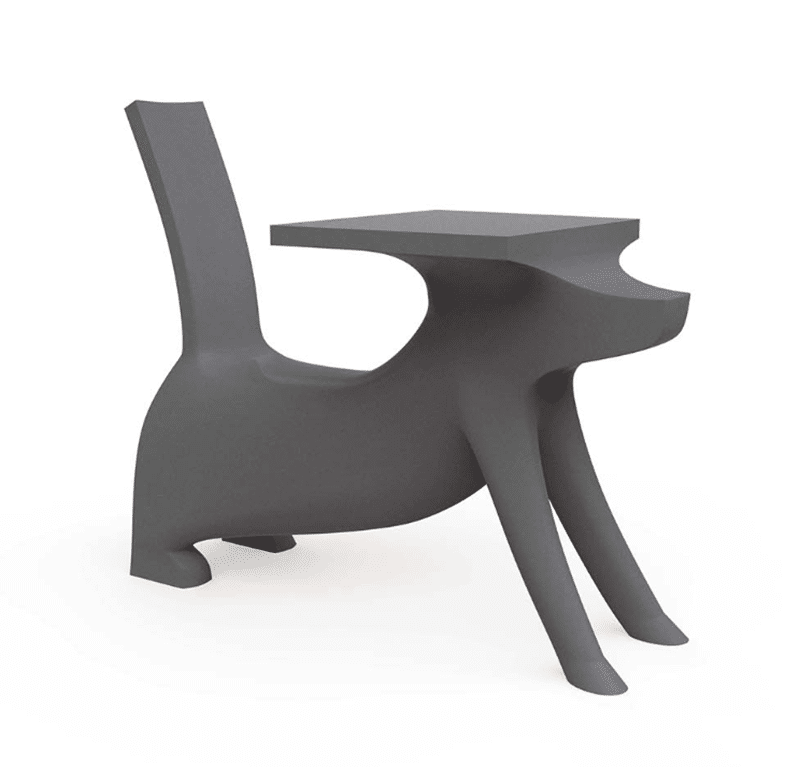 dog-shaped desk by philippe starck