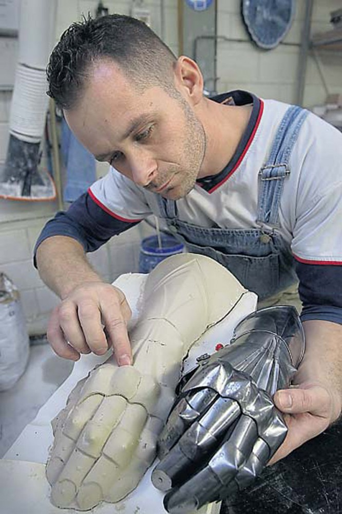 making clay molds