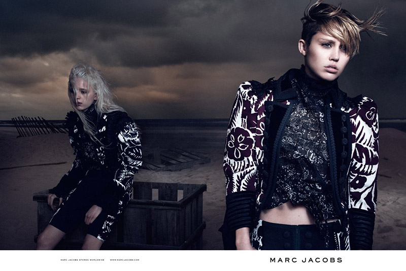 A Moody Miley Stars In Marc Jacobs New 2014 Ad Campaign ...