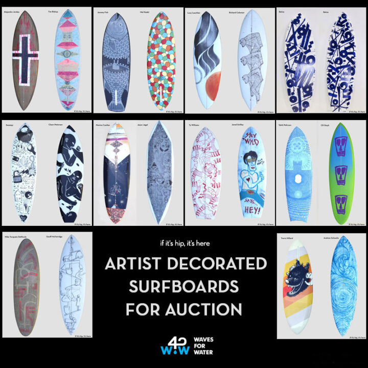 Artist Decorated Surfboard Auction Benefits Waves For Water.