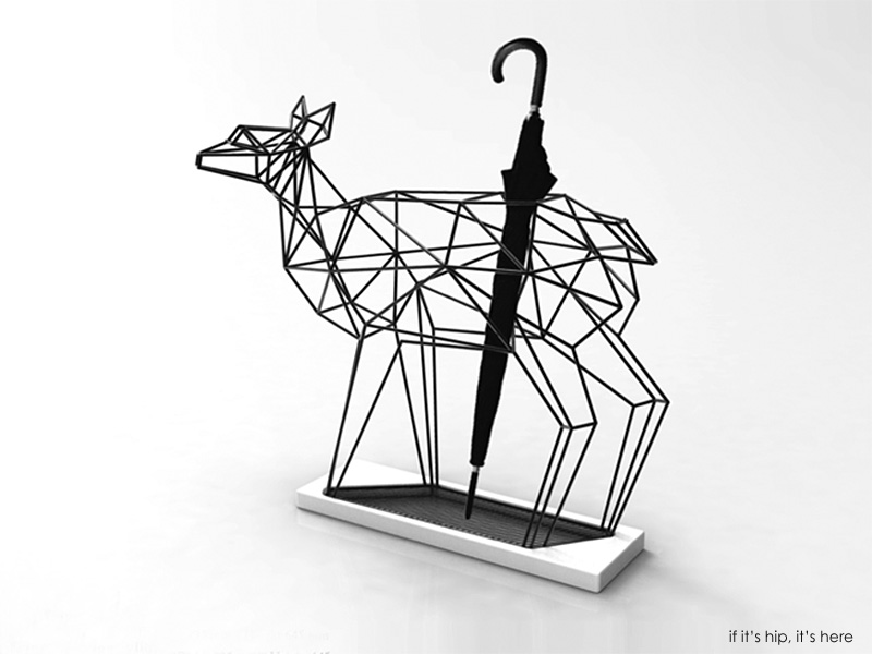 Umbrella Stand Designs : Deer and crane umbrella stands by liberté design studio