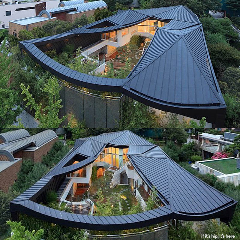 Modern Architecture Expressed In A Korean Home With A