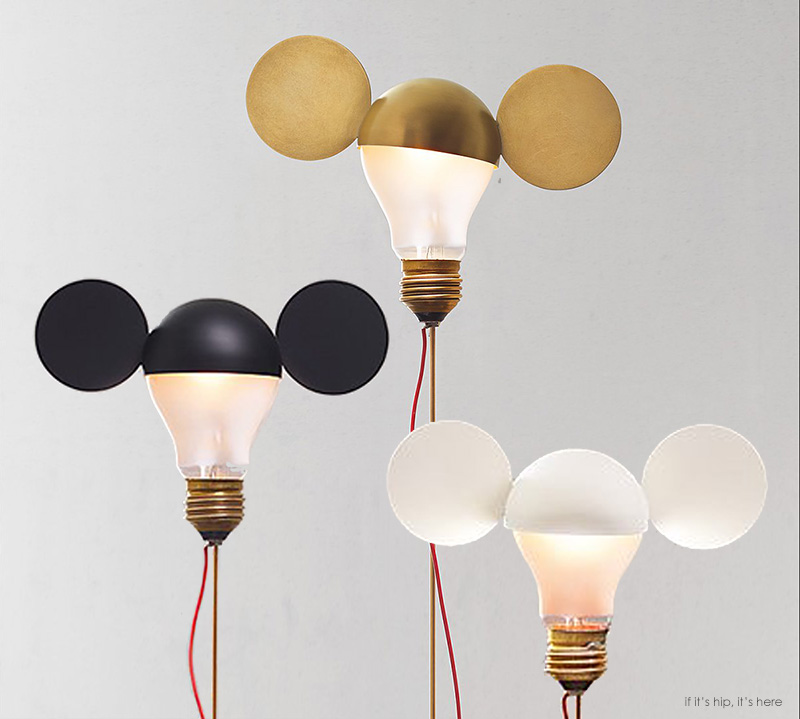 whimsical table lamps by ingo maurer are a nod to mickey. Black Bedroom Furniture Sets. Home Design Ideas