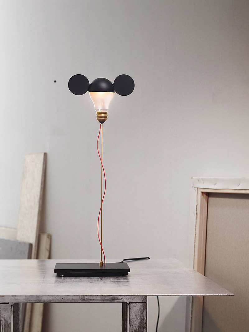 Whimsical Table Lamps By Ingo Maurer Are A Nod To Mickey