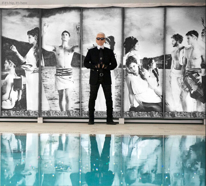 Karl Lagerfeld Brings Greek History To The Hotel Metropole Monte Carlo With His ODYSSEY Pool.
