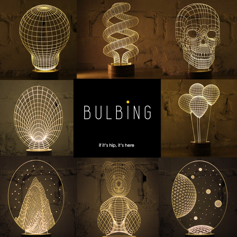 Bulbing Lamps From Studio Cheha Flat Led Give Off 3d Glow