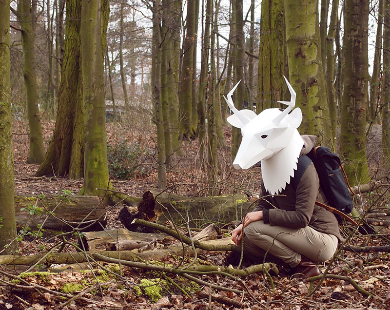 3D Paper Animal Masks by Soroche Labs
