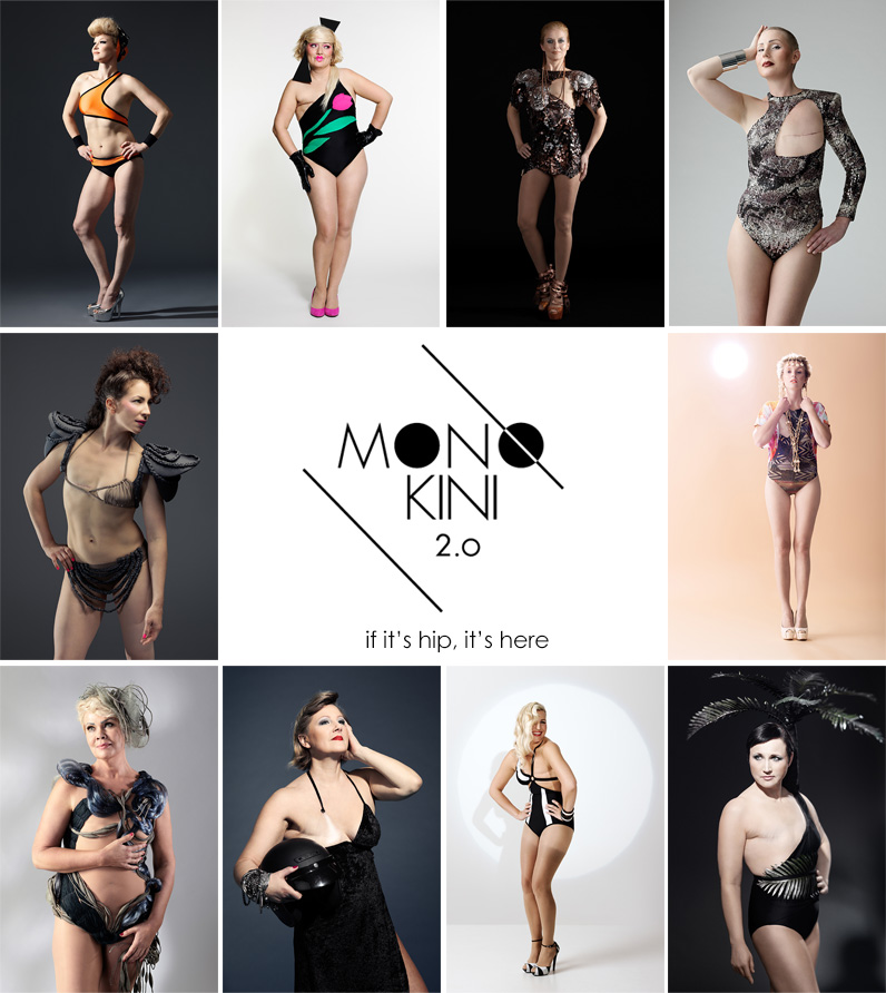 Breast Cancer Survivors Model Swimsuits For Single Breasted Women.