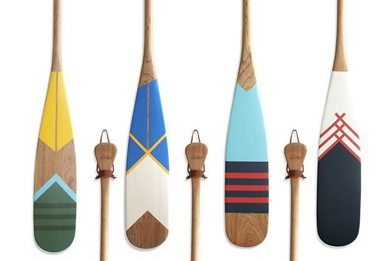 hand painted canoe paddles