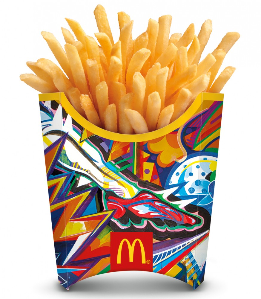McDonald's french fry containers for the 2014 World Cup