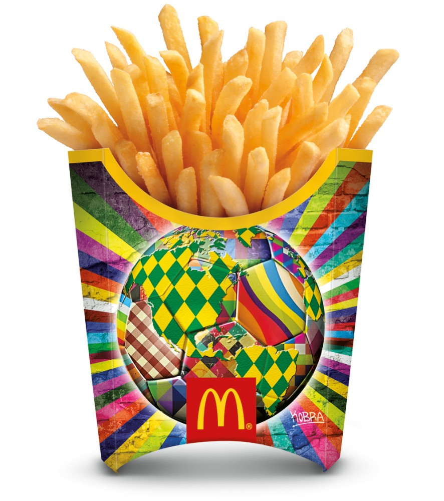 mcdonalds french fry packaging for world cup