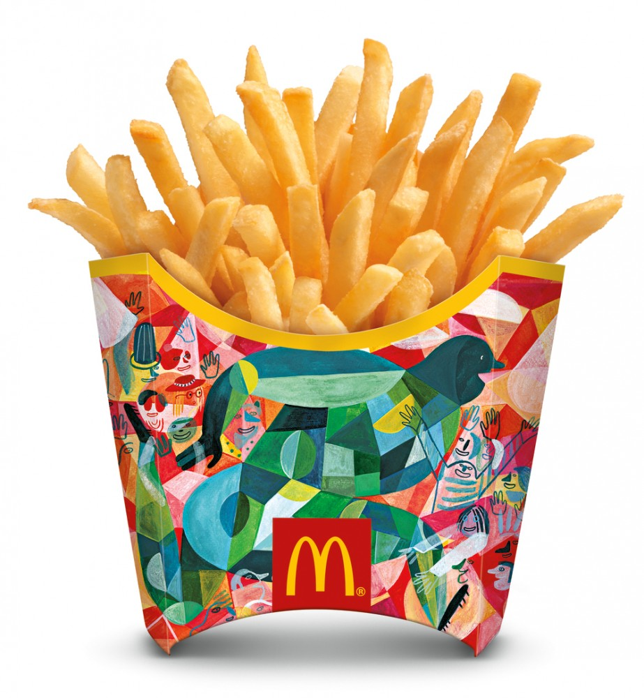 mcdonalds world cup french fry packaging