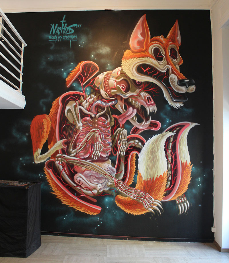Opening Piece at Galo Art Gallery in Turin by Nychos IIHIH