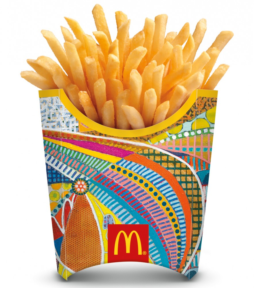 mcdonalds fry packaging for world cup