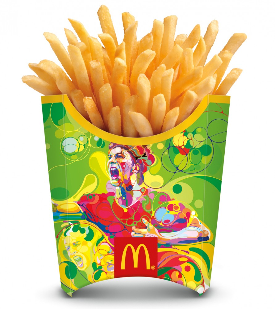 global artists design french fry packaging for mcdonalds