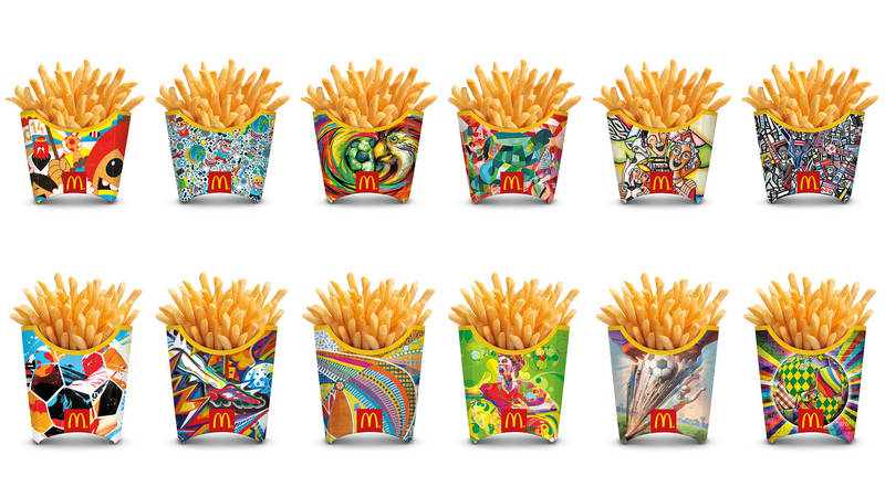 mcdonalds 12 world-cup-boxes by street artists