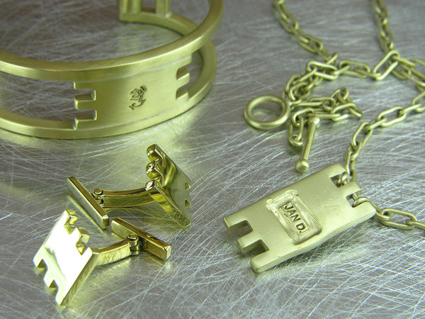 metropolis cuff necklace and cuff links