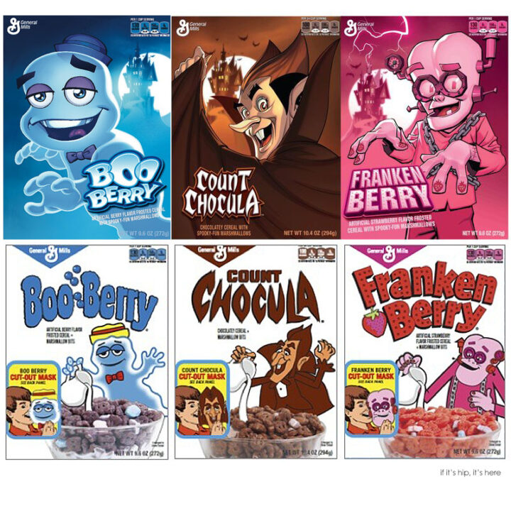 Boo Berry, Franken Berry and Count Chocula Get Facelifts by DC Comic Artists.