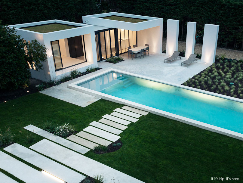 Gorgeous modern pool house in basque country by atelier dc - Modern house with pool ...