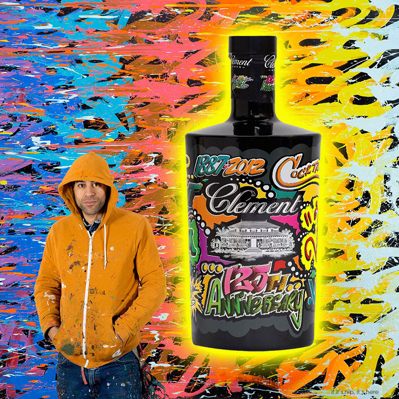 Limited Edition Bottles of Rhum Clement by Artist JonOne