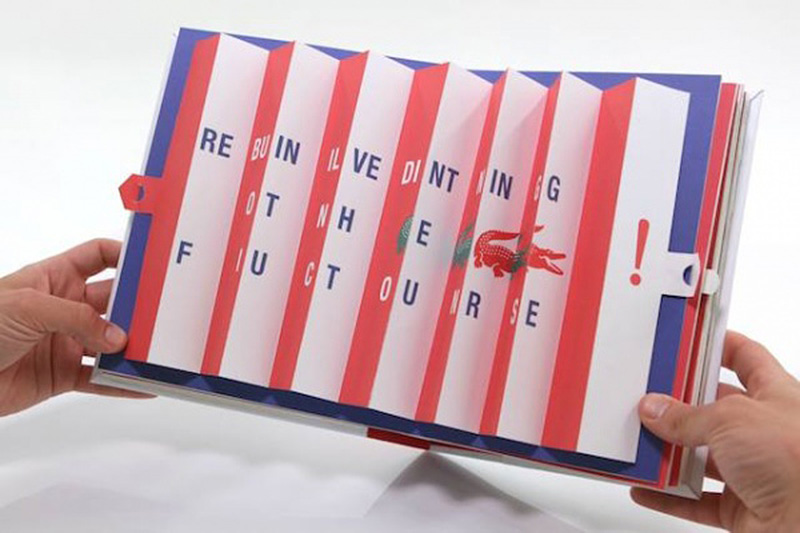 Handmade Pop-Up Book to launch Lacoste LIVE