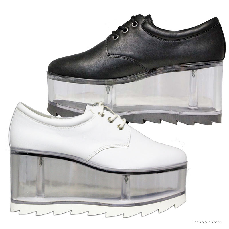 qloud shoes vegan leather with clear platform quot container