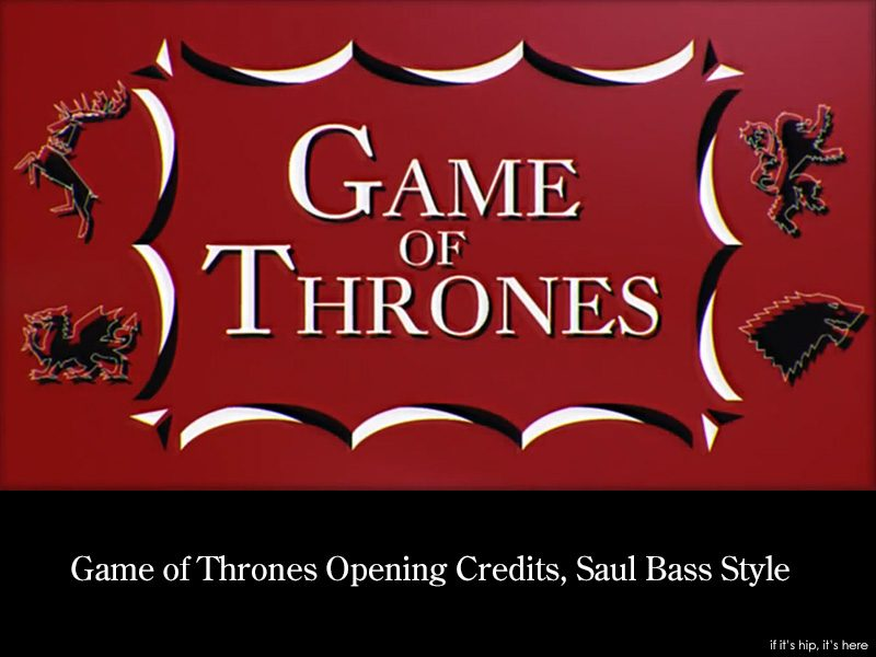 Game Of Thrones Opening Sequence Saul Bass Style