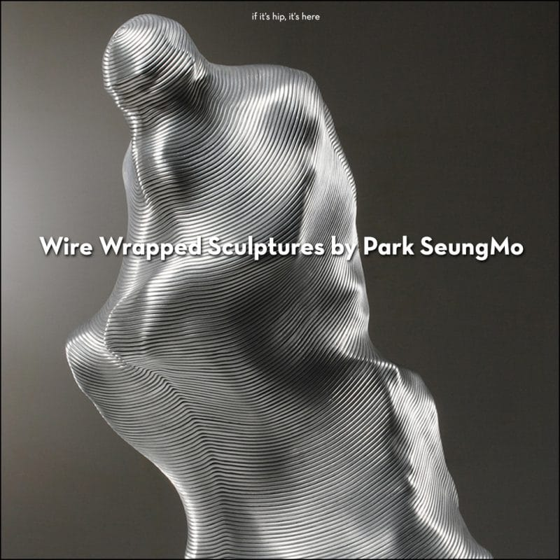 Wire Wrapped Sculptures by Park SeungMo
