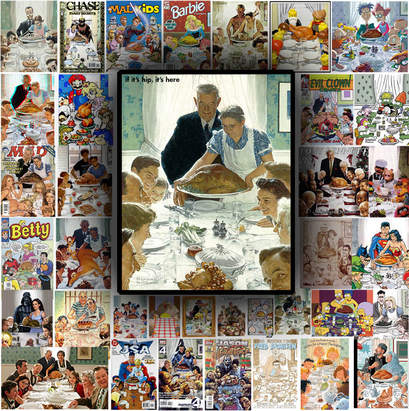 Parodies of Norman Rockwell's Freedom From Want