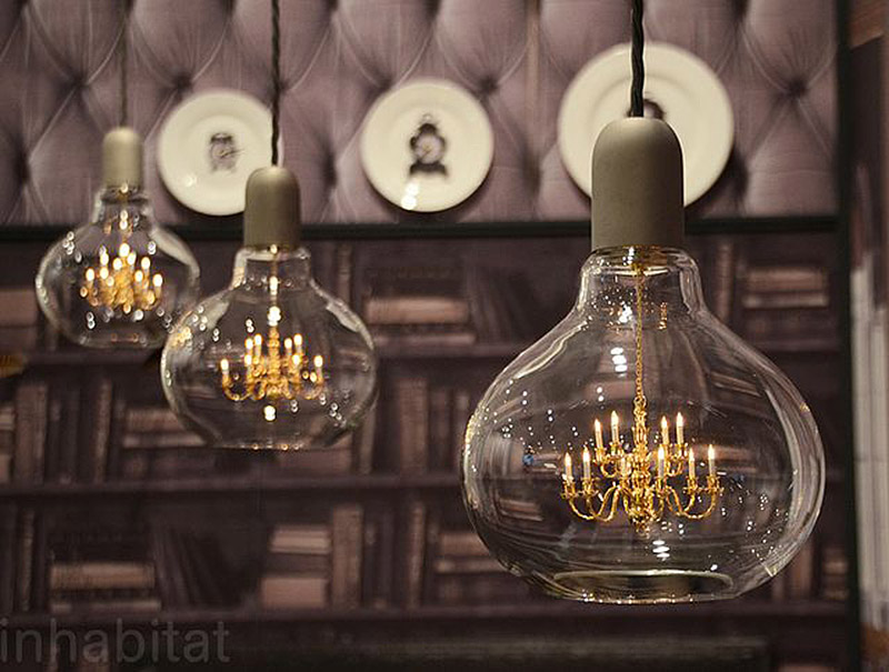 Mini Chandelier Inside Glass Bulb Makes For One Unusual