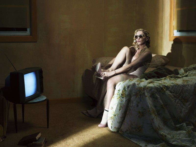 fashion editorial with madonna