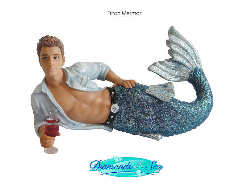 Triton merman and logo