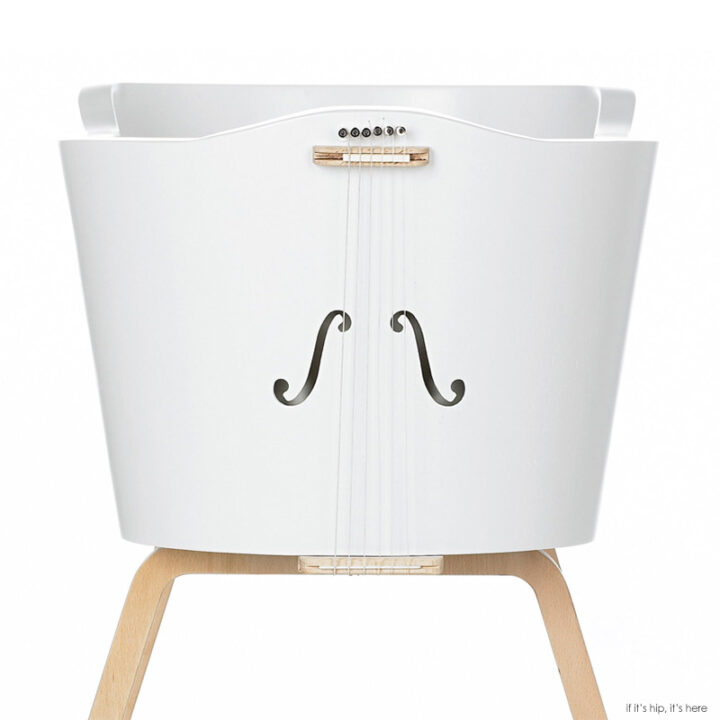 The Womby Rocking Cradle Reproduces A Mother's Heartbeat and Voice Vibrations.