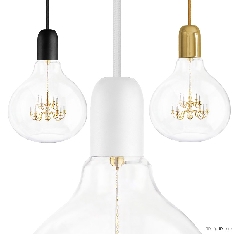 Attractive Mini Chandelier Inside Glass Bulb Makes For One Unusual Pendant Lamp.   If  Itu0027s Hip, Itu0027s Here Amazing Pictures