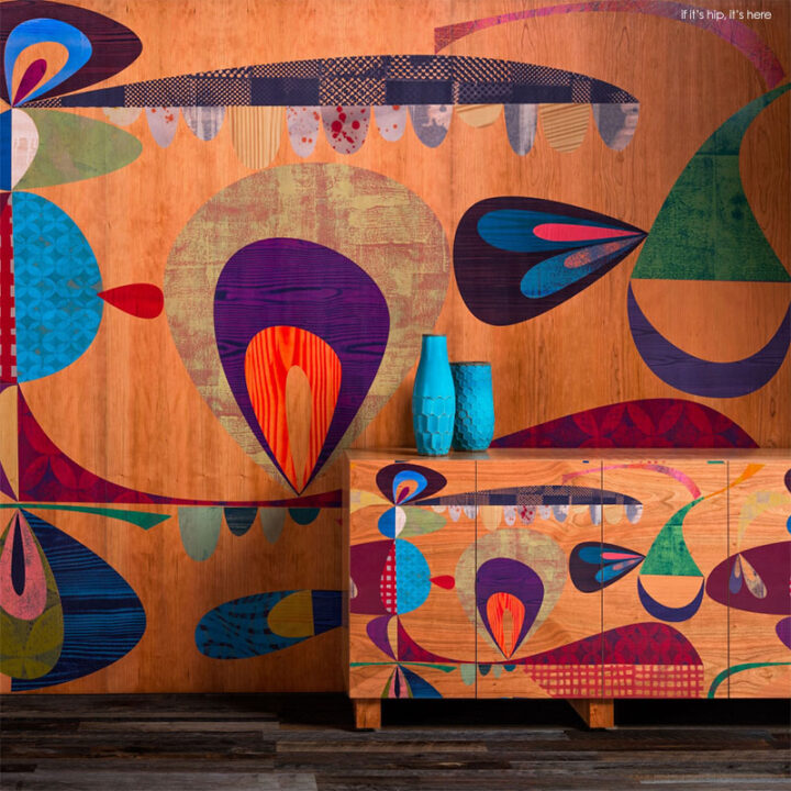 Artist Rex Ray for B+N Industries: Fabulous Wall Panels and Furniture
