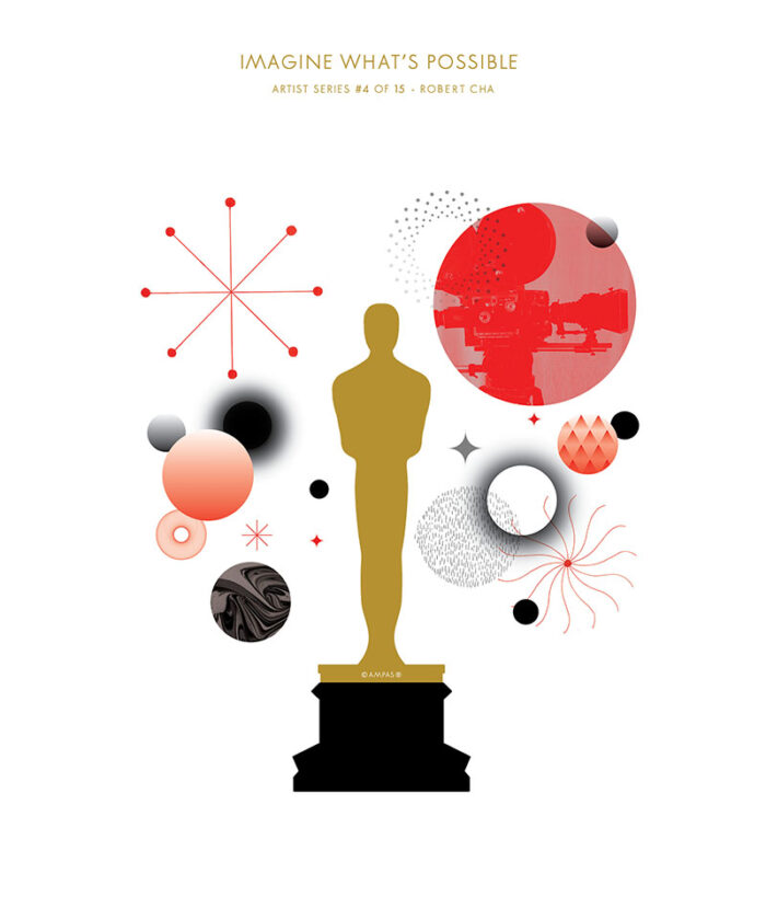 Oscar poster Designed by Robert Cha