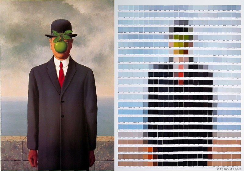 Magritte son of man side by side nick smith IIHIH