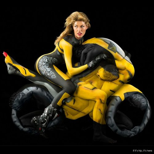 Read more about the article Human Motorcycles Made with Body Paint, Naked Women and Little Else.