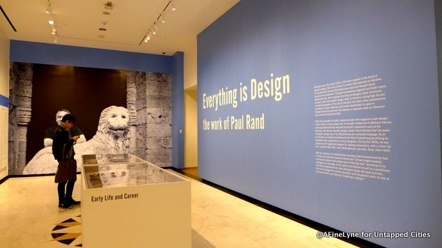 Paul Rand Everything is design exhibit