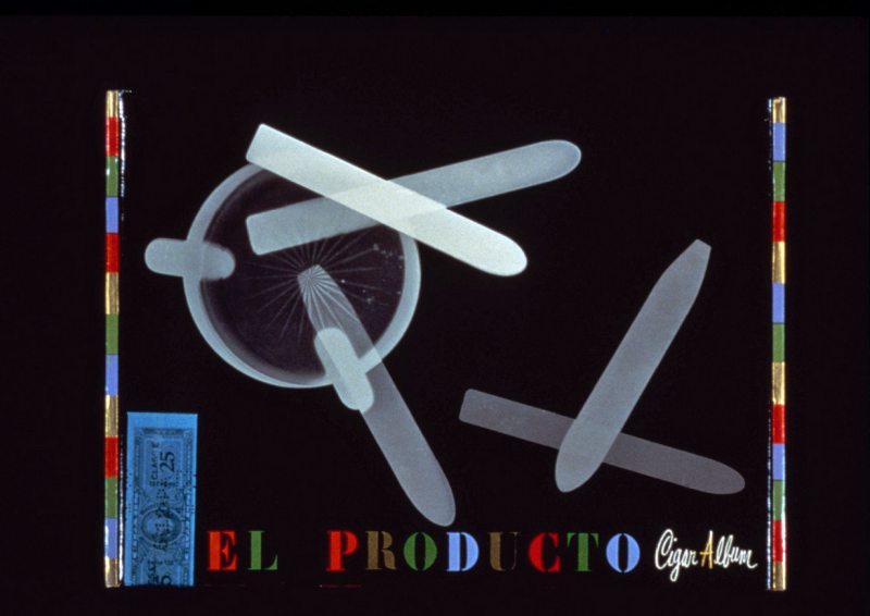 A gift box for El Producto cigars from 1952 by the graphic designer Paul Rand