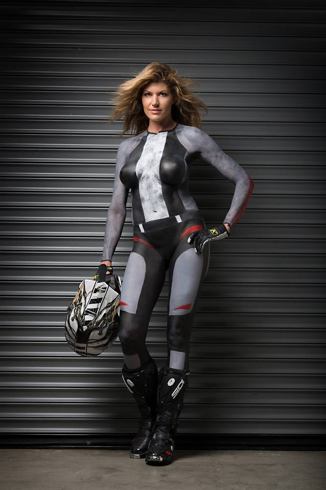 Boobs Nude Body Art On Motorcycle Pictures