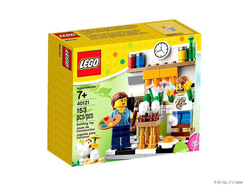 lego painting easter eggs