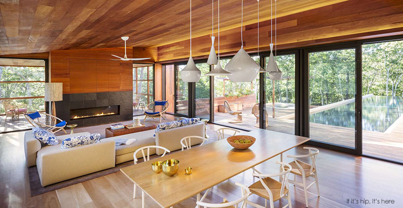 A 6 000 square foot modern cabin in the hamptons if it - Decoration interieur bois moderne ...