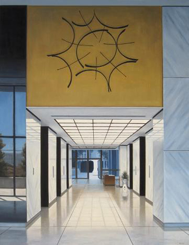 Paintings of a mid century modern los angeles by danny heller for Mid century modern la