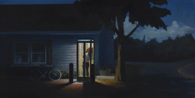 Lost oil on canvas 18x36 inches