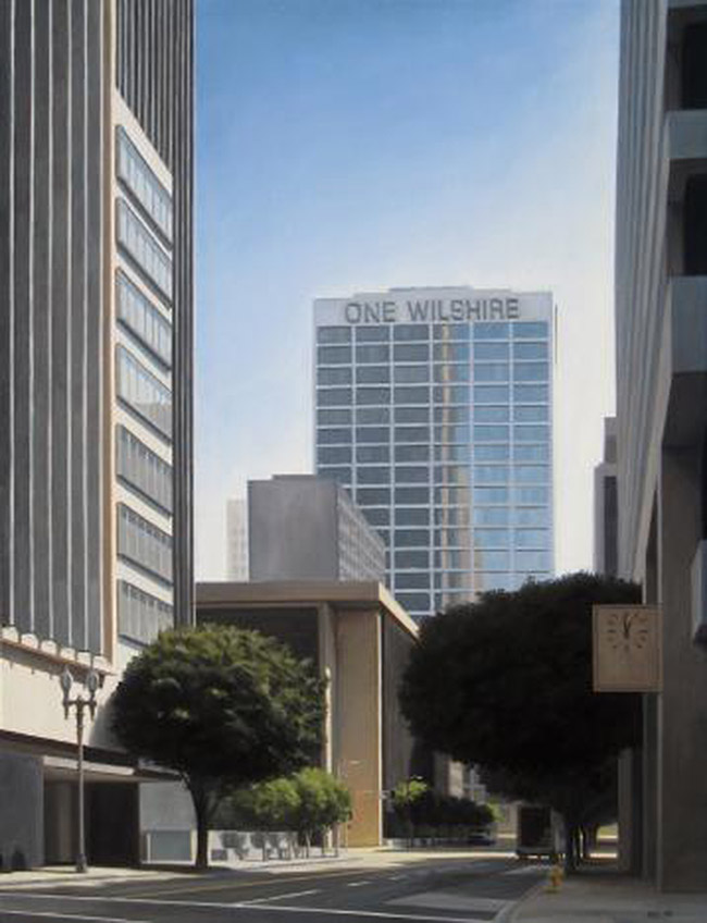 One Wilshire, oil on canvas, danny heller