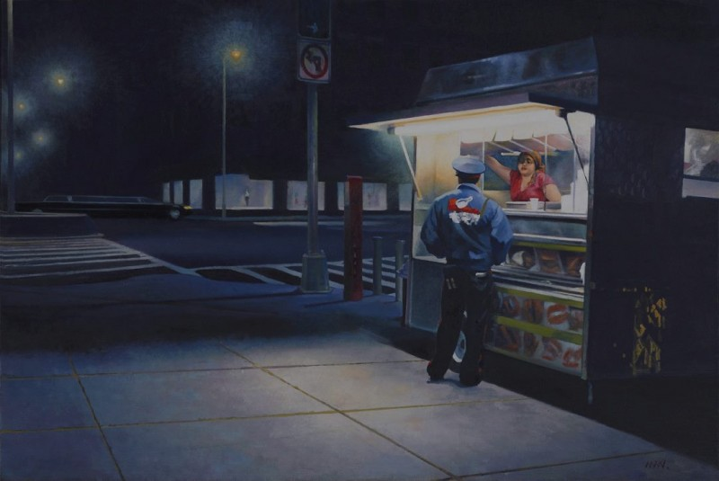 Thief oil on canvas 24x36 inches