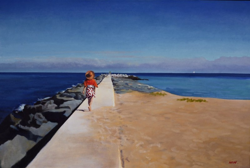 To the Point oil on canvas 24x36 inches