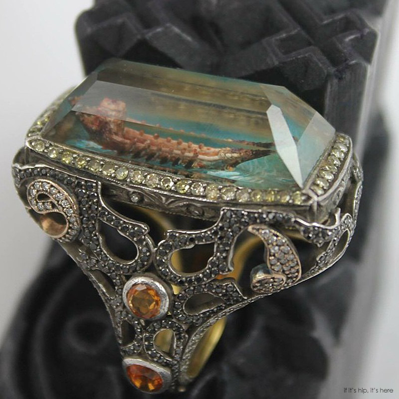 carved cabochon rings