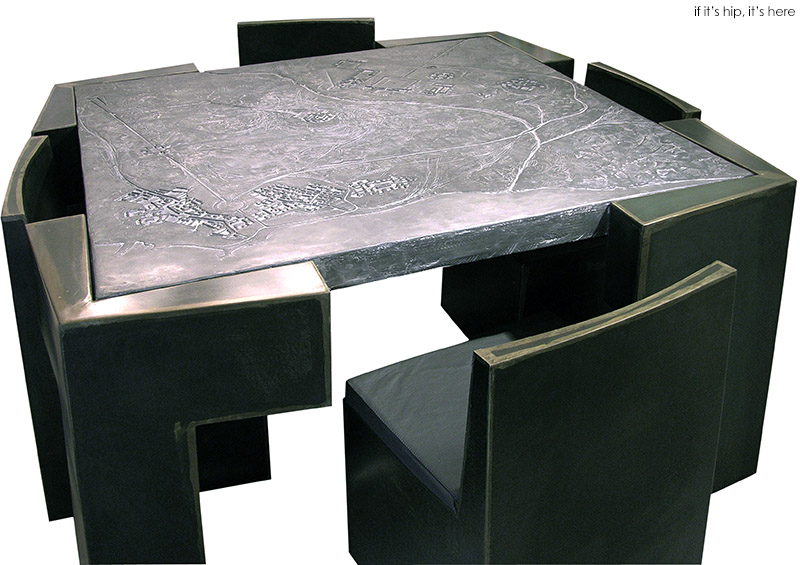 Table With Hidden Chairs furniture with maps of imaginary citiesjosep cerda - if it's